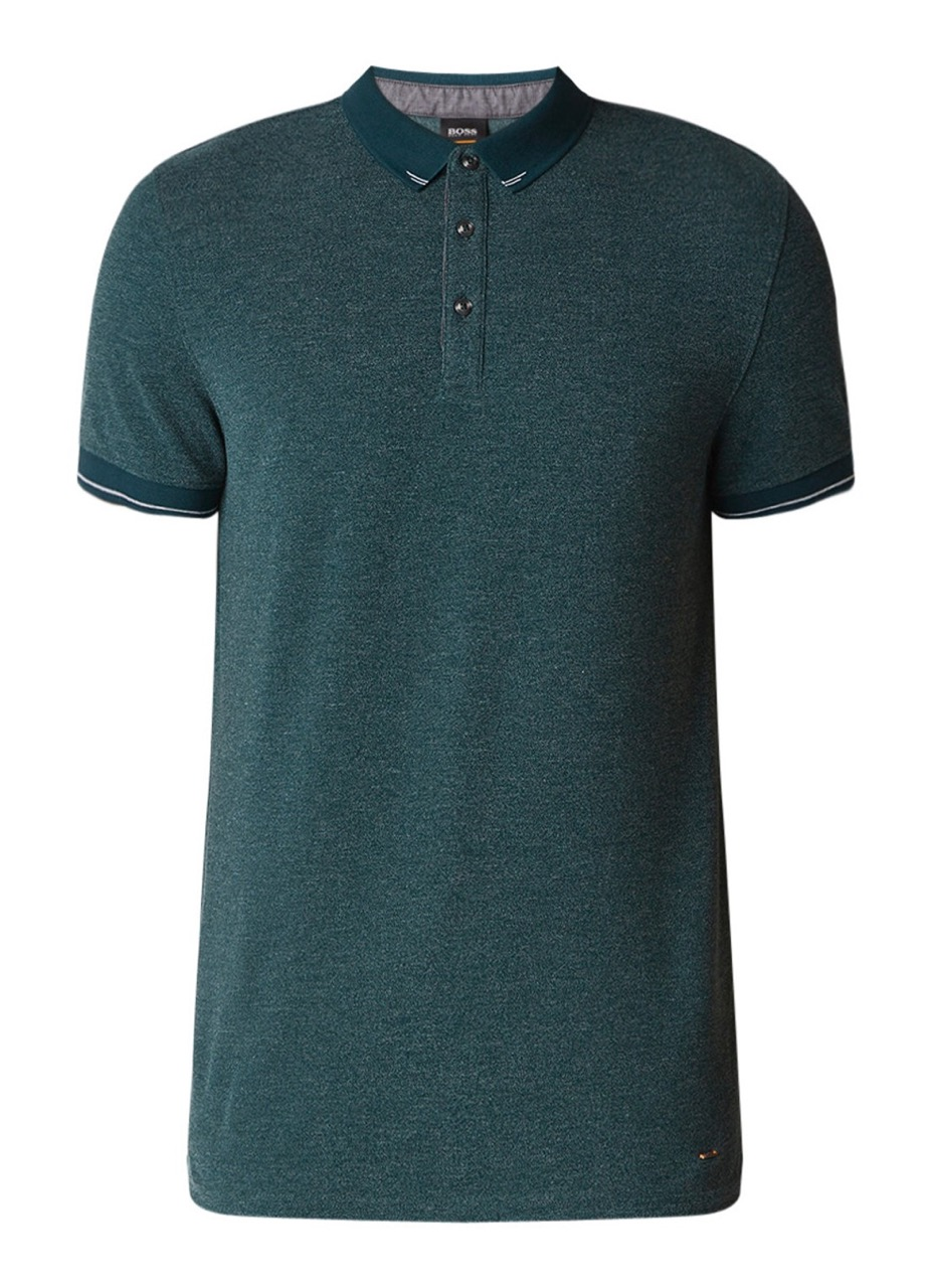 HUGO BOSS forest green polo korte mouw