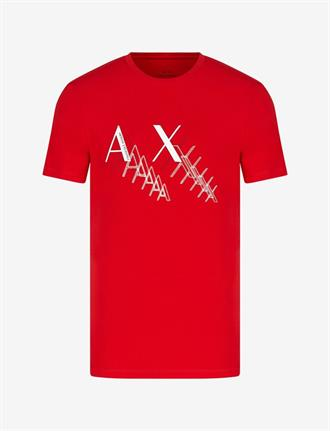 Armani Exchange Rood t-shirt met opdruk van Armani Exchange, slim fit pasvorm