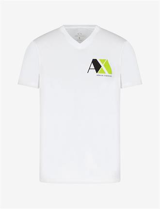 Armani Exchange Wit t-shirt met opdruk van Armani Exchange, slim fit