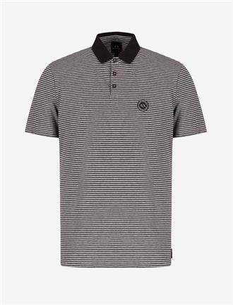 Armani Exchange Witte polo met zwarte streepvan Armani Exchange, regular fit.