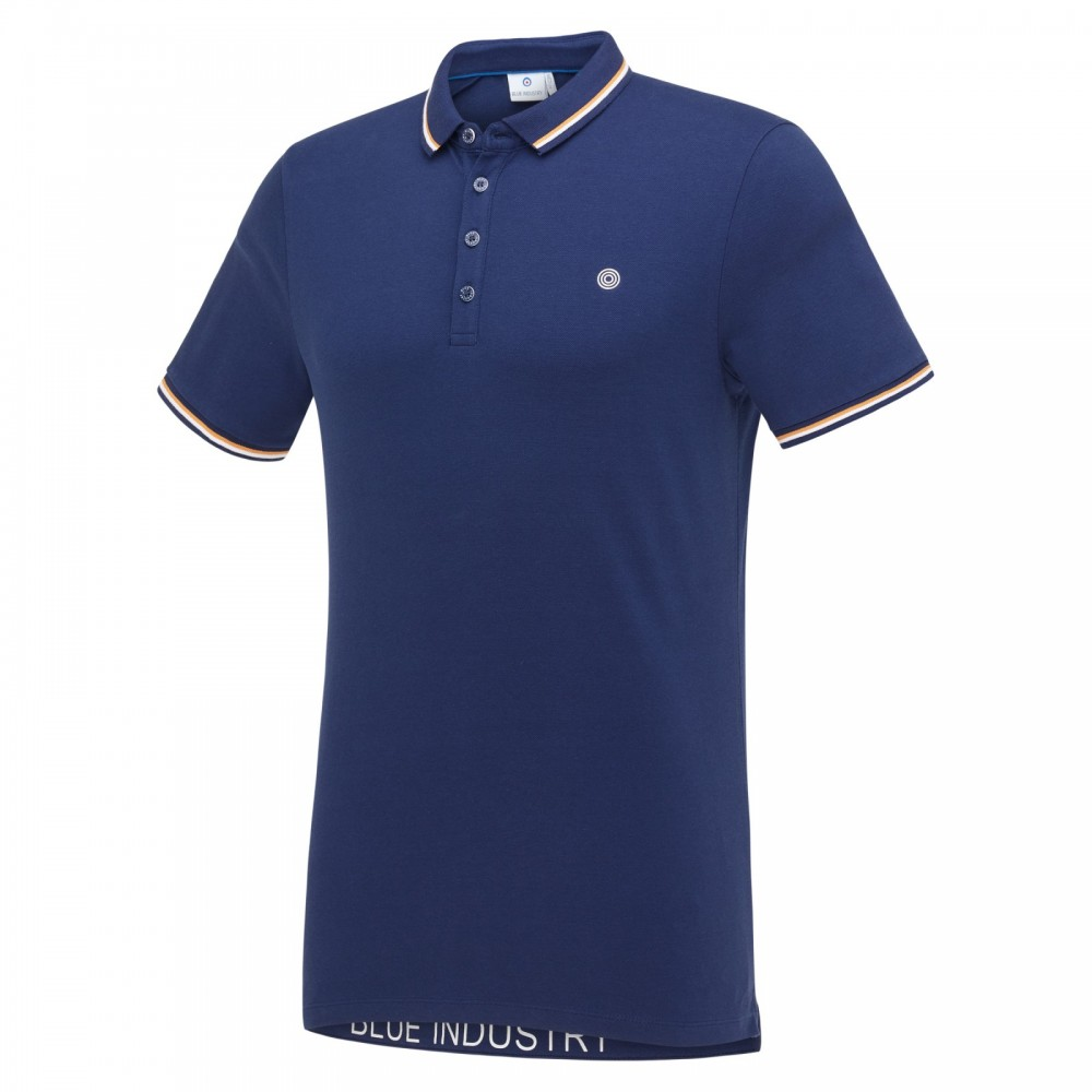 BLUE INDUSTRY Army Green kleurige slimfit polo van Blue Industry