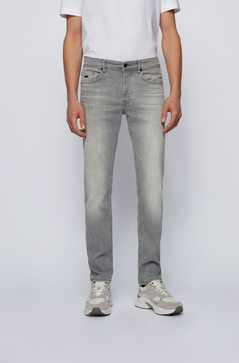 HUGO BOSS Grijze jeans hugo boss, tapered fit lengte 36.