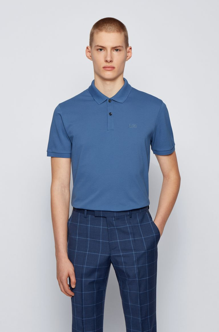 HUGO BOSS Polo blauw regular fit Hugo Boss