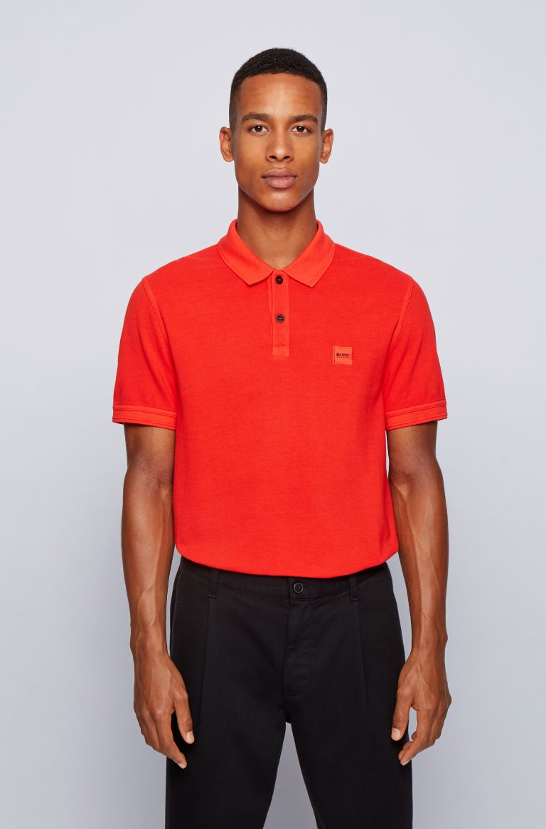 HUGO BOSS Polo van Hugo Boss, slim fit stretch.