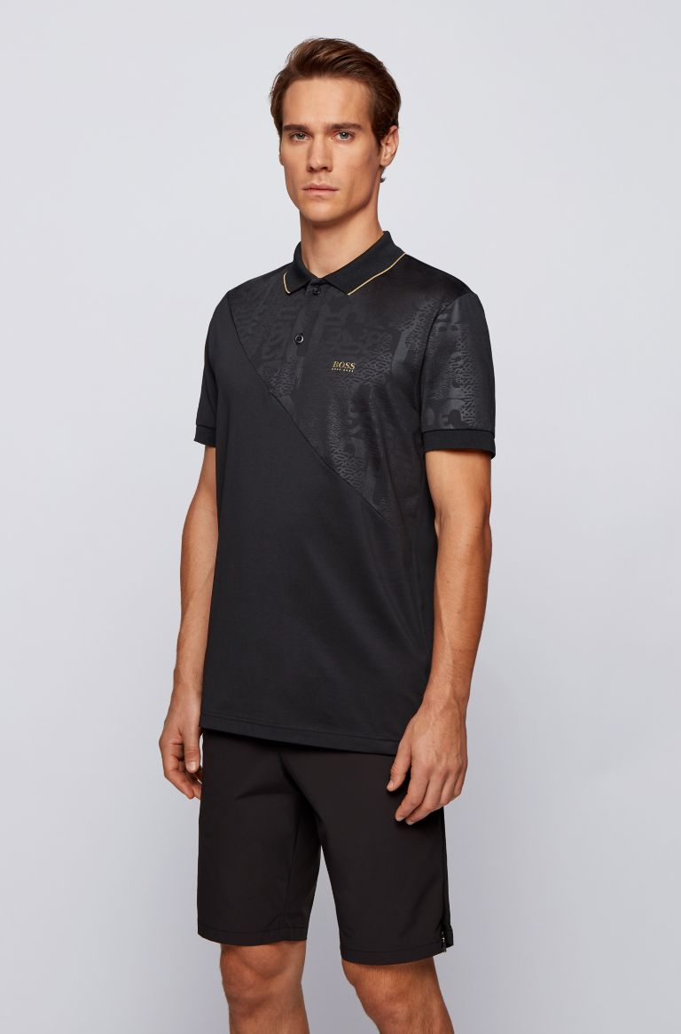 HUGO BOSS Polo zwart regular fit Hugo Boss