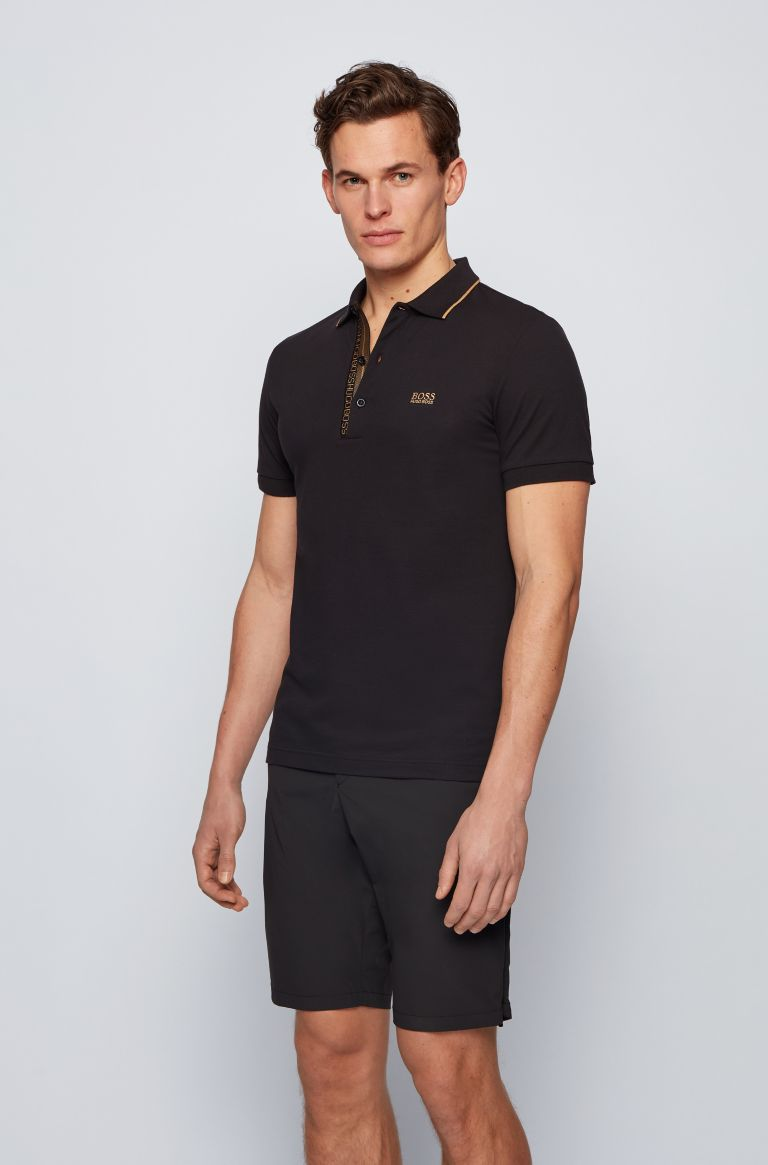HUGO BOSS Polo zwart slim fit Hugo Boss