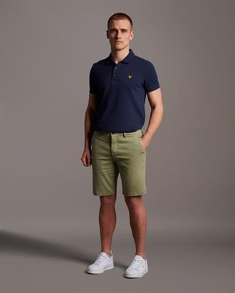 Lyle&Scott Chino short in groen