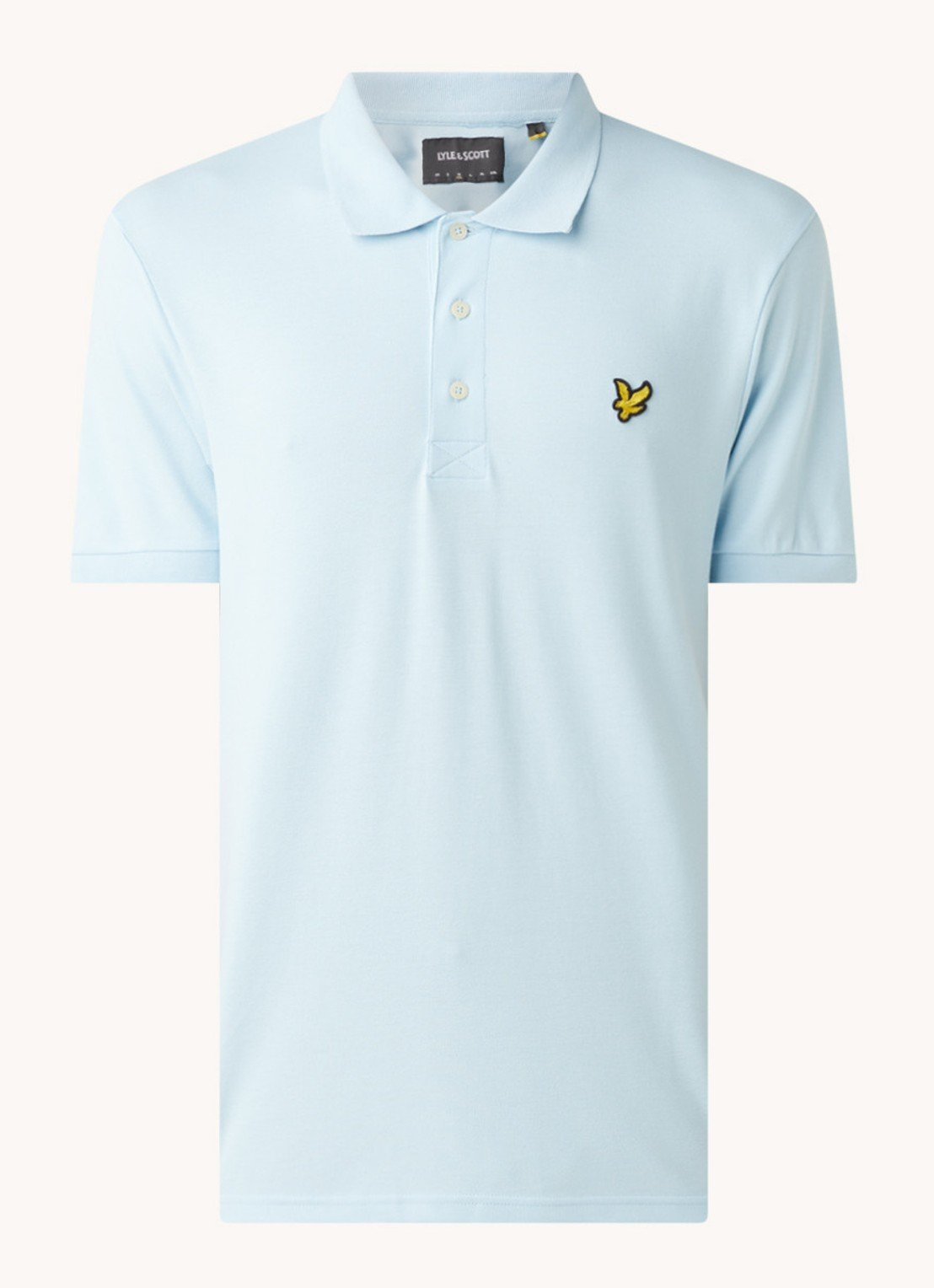 Lyle&Scott Polo blauw slim fit