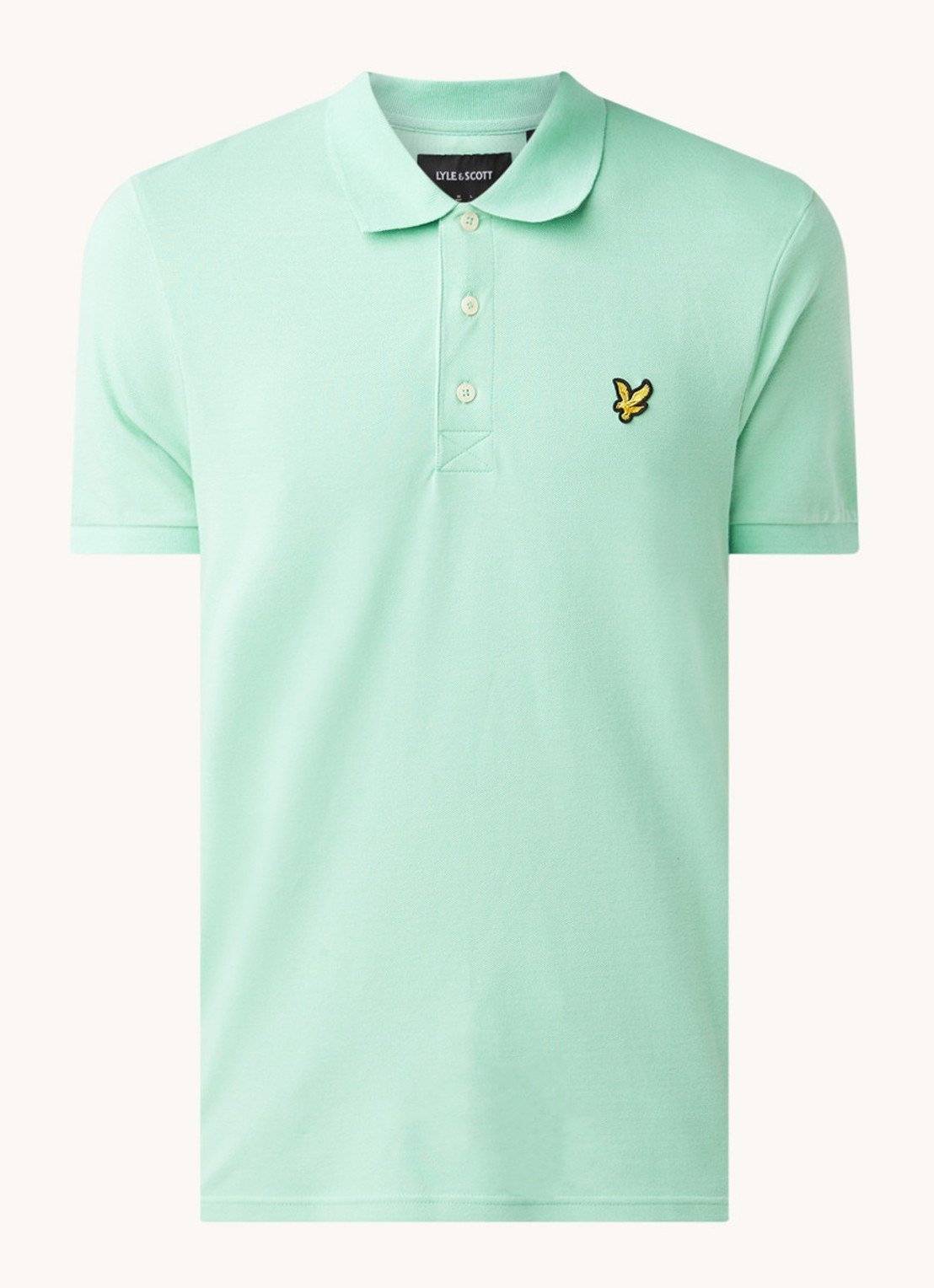 Lyle&Scott Polo groen slim fit
