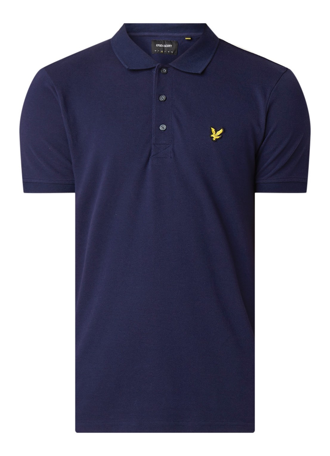 Lyle&Scott Polo slim stretch blauw