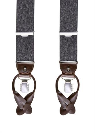 Profuomo BRACES LUXE 36MM GREY MEL