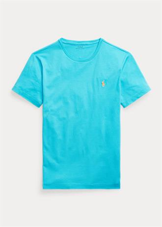 RALPH LAUREN Aqua blauw t-shirt van Polo Ralph Lauren, custom slim fit model.