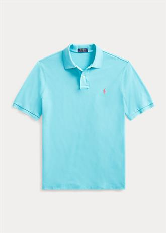 RALPH LAUREN Aqua blauwe polo van Polo Ralph Lauren in slim fit model.