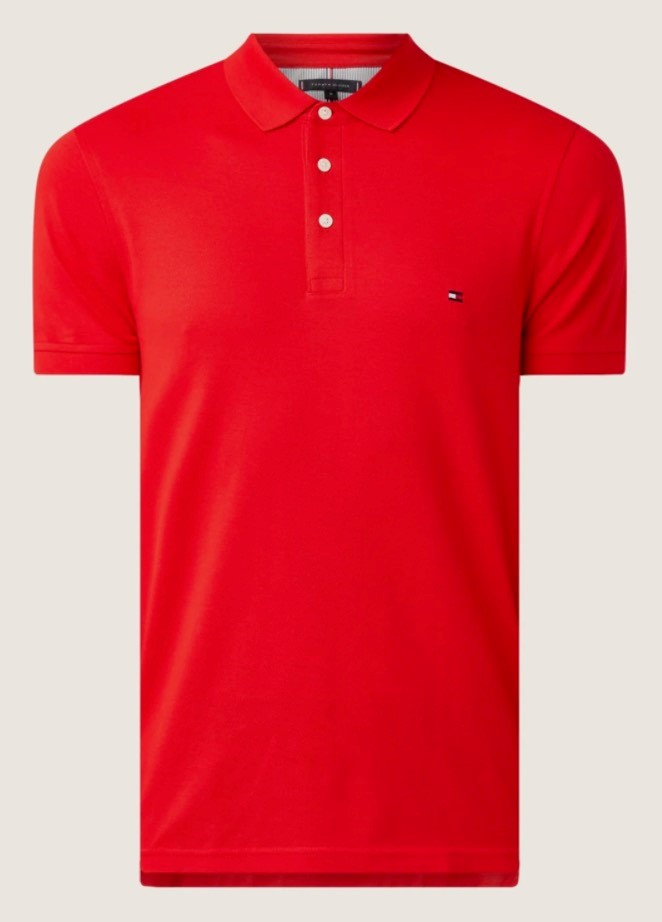 TOMMY HILFIGER Rode slim fit polo van hilfiger